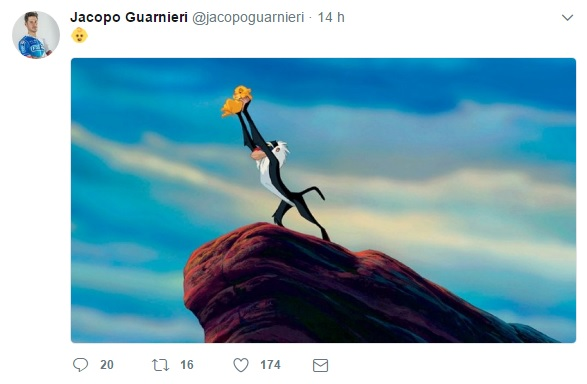 Il tweet di Jacopo Guarnieri