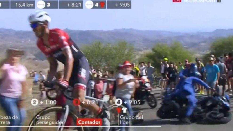 Incidente alla Vuelta Espana