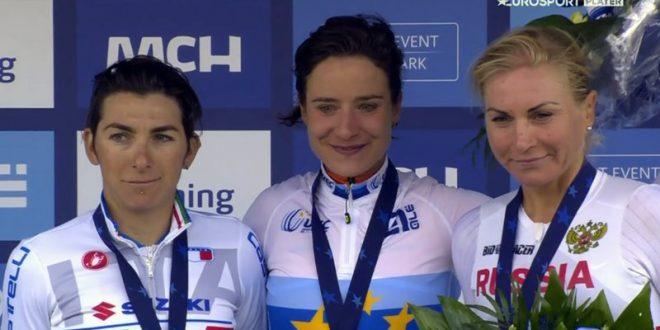 Marianne Vos davanti alla Bronzini