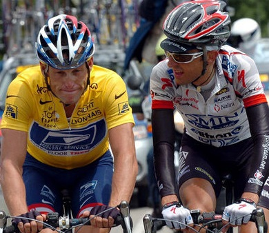 Filippo Simeoni ed Armstrong