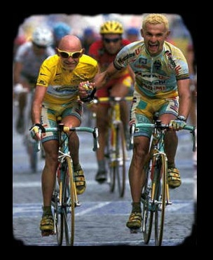 Fabiano Fontanelli e Marco Pantani