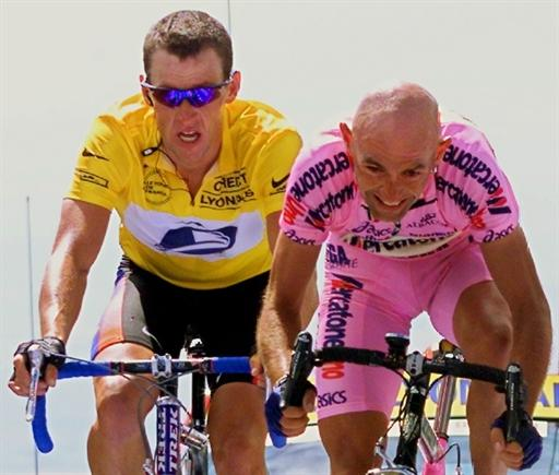 Lance Armstrong contro Pantani