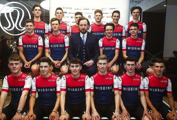 Sir Bradley Wiggins e il suo team