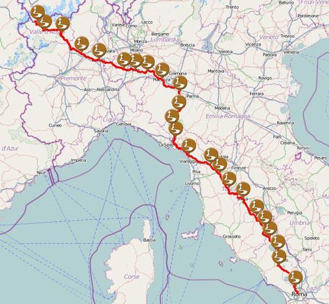 Via Francigena, la ciclovia più lunga d'Italia