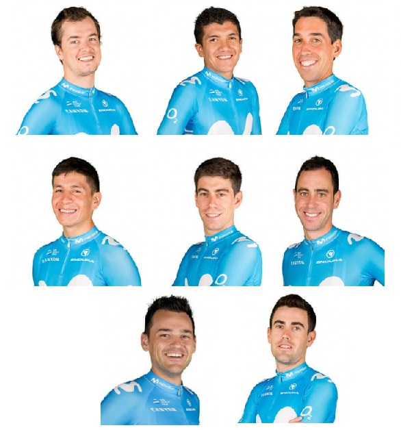 Team Movistar al Giro d'Italia
