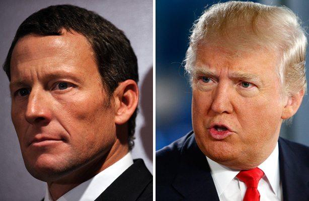 Donald Trump e Lance Armstrong