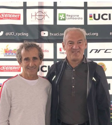 Alain Prost e Renzo Oldani