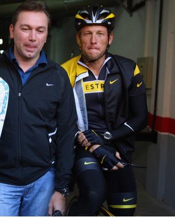 Johan Bruyneel e Armstrong