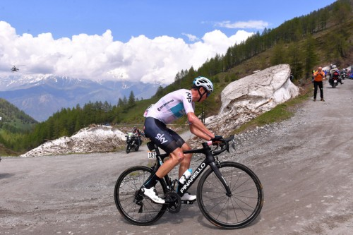 Colle delle Finestre, Chris Froome