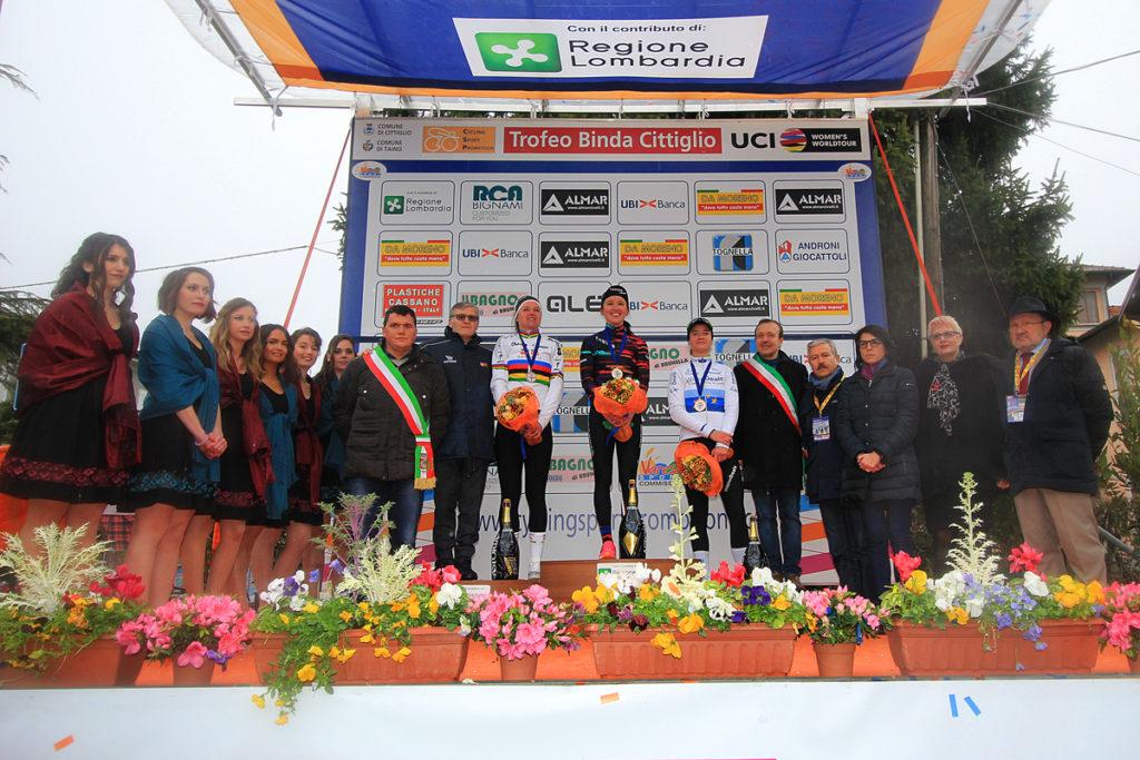 Trofeo Binda 2018:il podio (comunicato stampa)