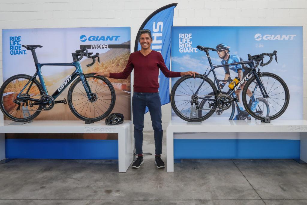 Giant e Shimano accanto ad Alessandro Fabian (FONTE COMUNICATO STAMPA)