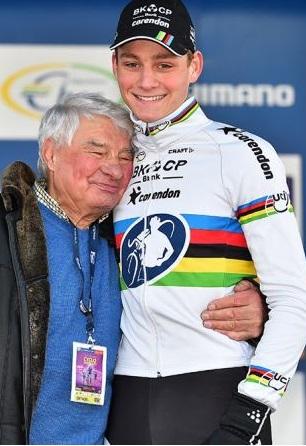 Poulidor con il nipote Van der Poel