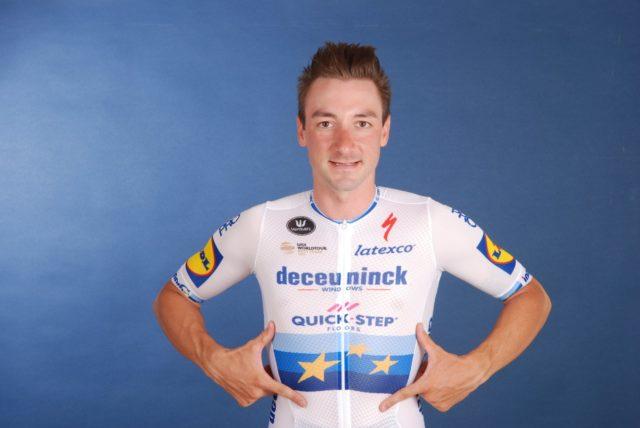 Viviani Campione Europeo (fonte pagina twitter Deceuninck - Quick-Step)