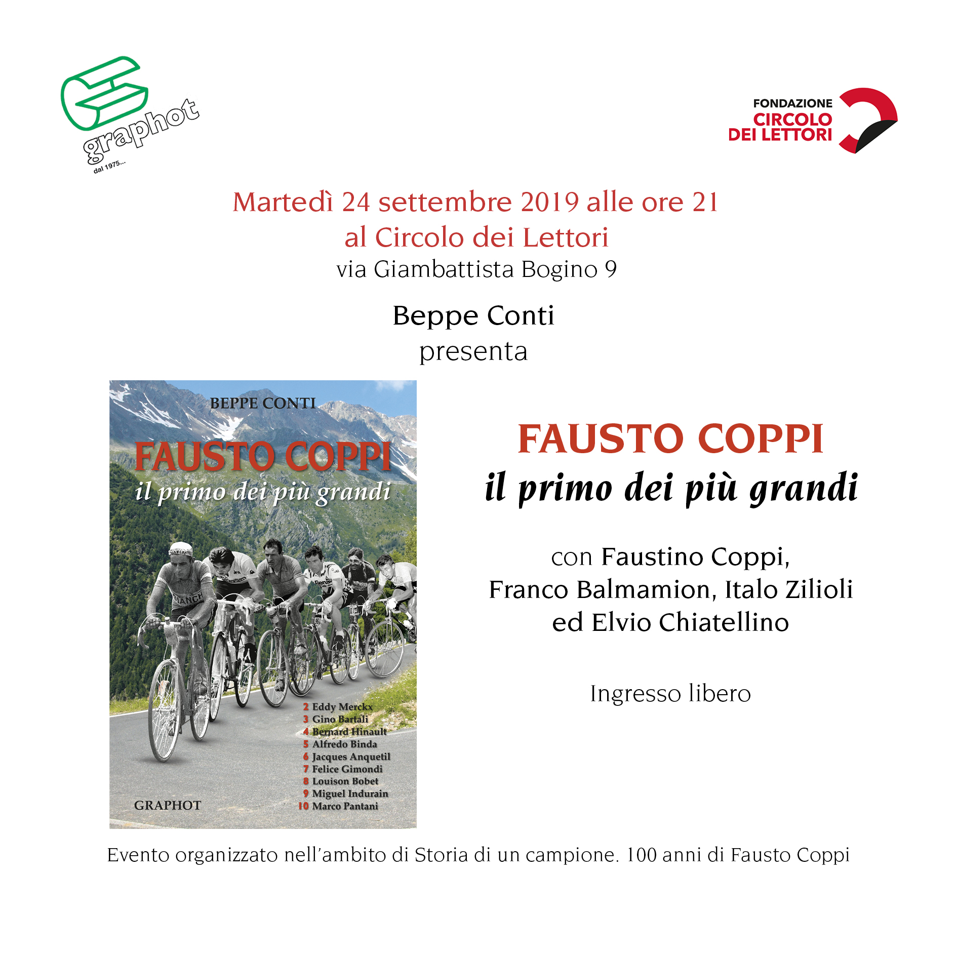Presentazione libro su Fausto Coppi