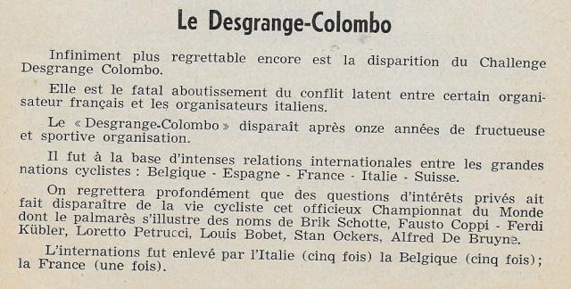 Challenge Desgrange Colombo
