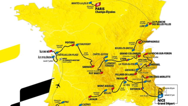 Percorso del Tour de France 2020