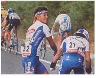 Leonardo Sierra alla Vuelta 1995