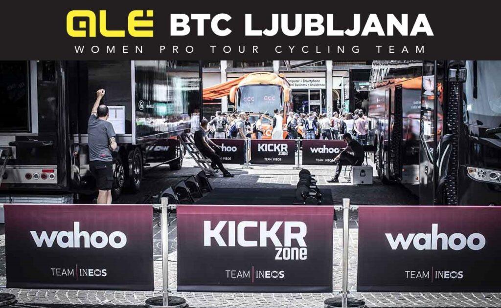 Wahoo e Speedplay con Alé BTC Ljubljana Cipollini