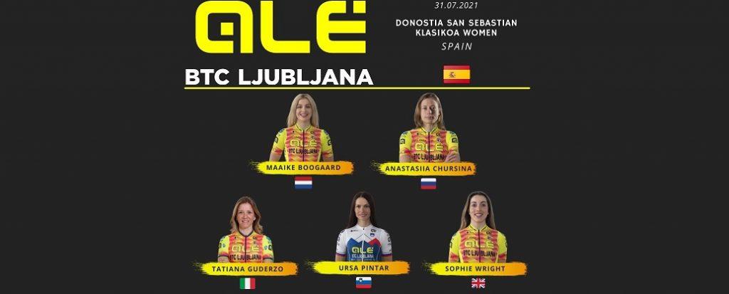 Alé BTC Ljubljana domani alla Donostia San Sebastian Klasikoa Women