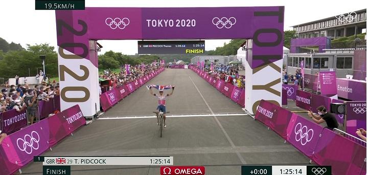 Thomas Pidcock campione olimpico a Tokyo 2020