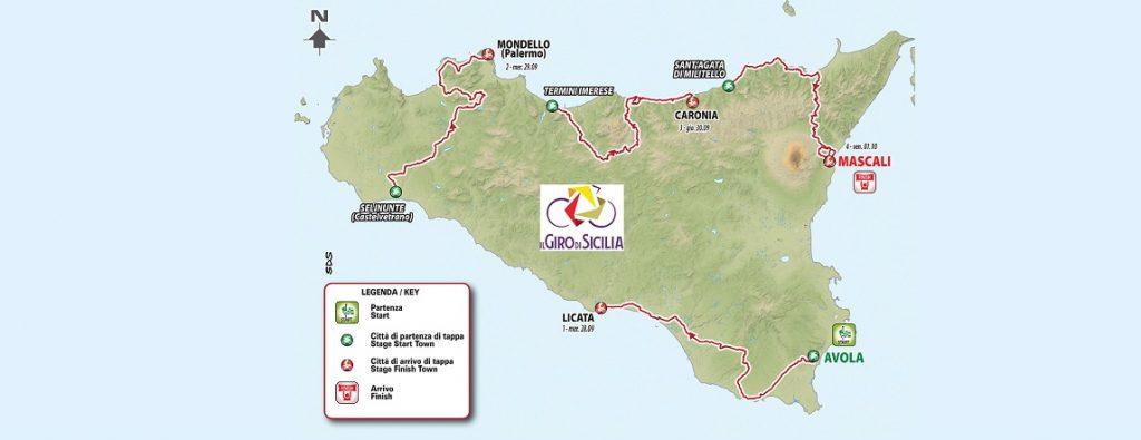 Giro di Sicilia 2021: il percorso