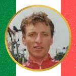 Stefano Tomasini maglia bianca al Giro 1988