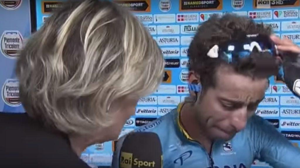 Le lacrime di Fabio Aru