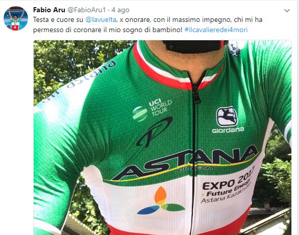 Fabio Aru alla Vuelta Espana