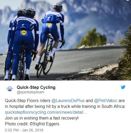 Due ciclisti della Quick Step