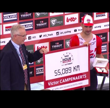 Victor Campenaerts Record dell'Ora