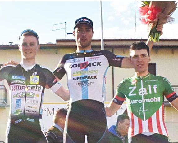 Paolo Baccio sul podio (fonte comunicato stampa)