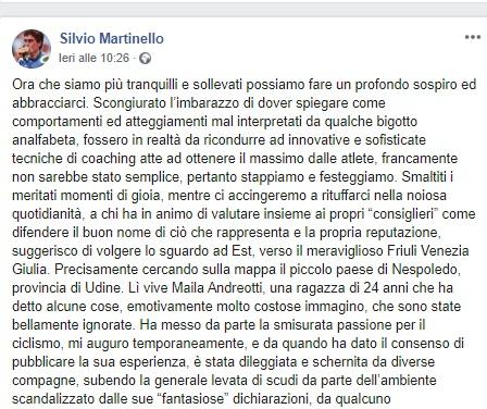 Silvio Martinello il post sulla vicenda #Metoo