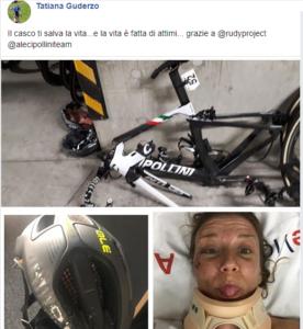Tatiana Guderzo il post su Facebook
