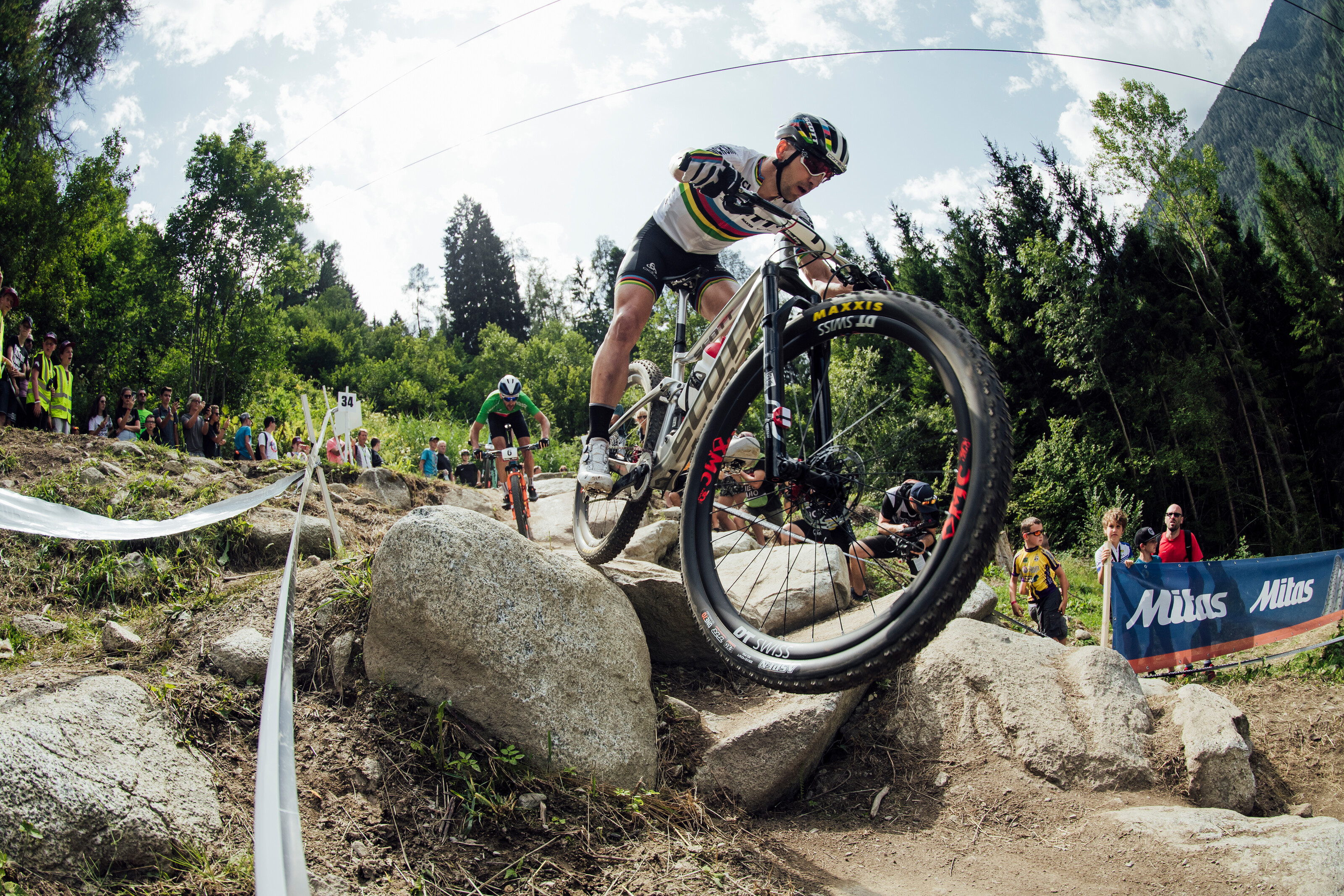 Nino Schurter performs at UCI XCO World Cup in Val di Sole, Italy on August 4th, 2019 // Bartek Wolinski/Red Bull Content Pool // SI201908040778 // Usage for editorial use only //