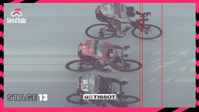 Ulissi (fonte pagina twitter Giro d'Italia)