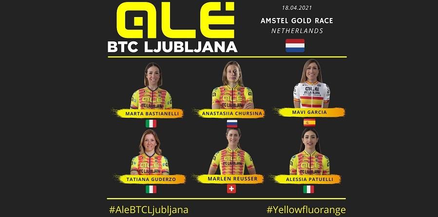 Alé BTC Ljubljana all'Amstel 2021
