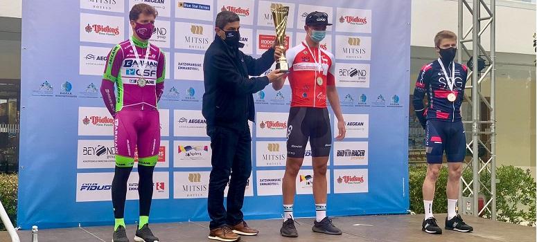 Filippo Fiorelli sul podio (Bettini Photo)