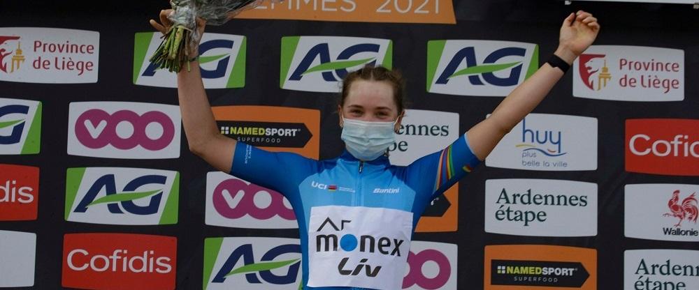 Maria Novolodskaya leader dell'UCI Women's World Tour © Anton Vos