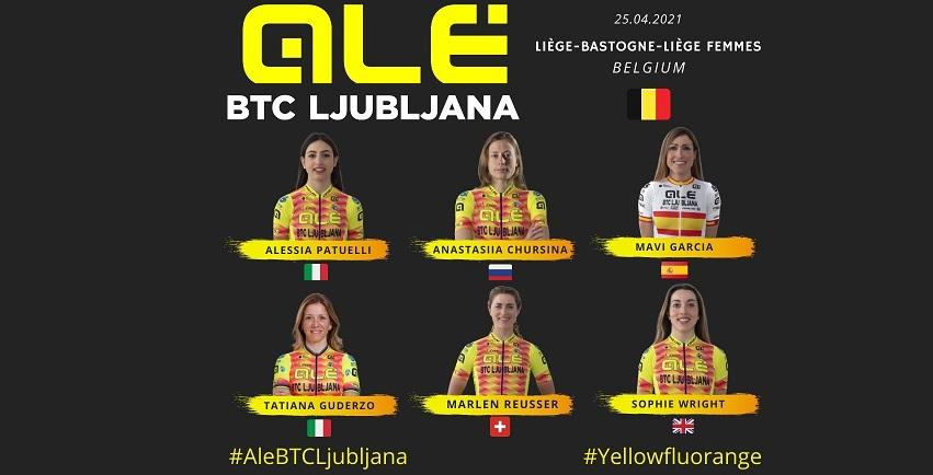 Alé BTC Ljubljana: scocca l'ora della Liegi-Bastogne-Liegi femminile