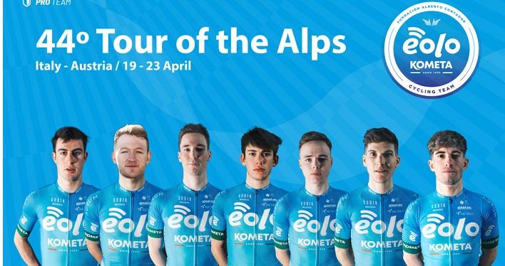 EOLO-KOMETA Cycling Team è pronta per il al Tour of The Alps 2021, una gara di alto livello che suscita sempre più interesse.