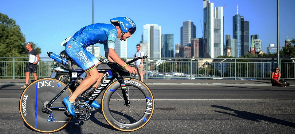 Patrick Lange of Germany competes in the bike leg during Mainova IRONMAN European Championship on June 30, 2019 in Frankfurt am Main, Germany. (Photo by Joern Pollex/Getty Images for IRONMAN