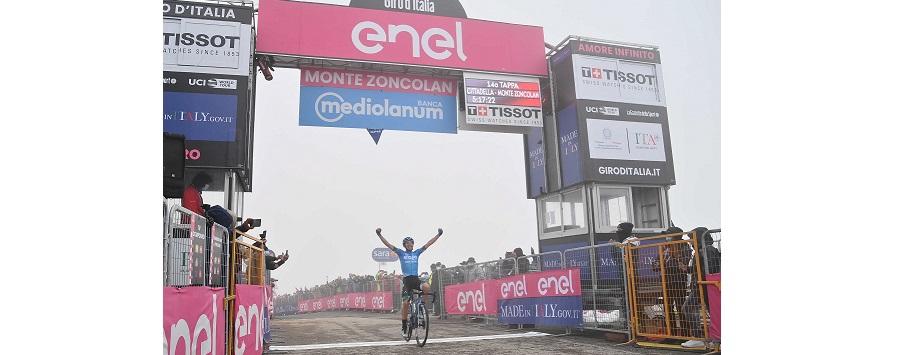 Lorenzo Fortunato vince la tappa 14 del Giro d'Italia (La Press)