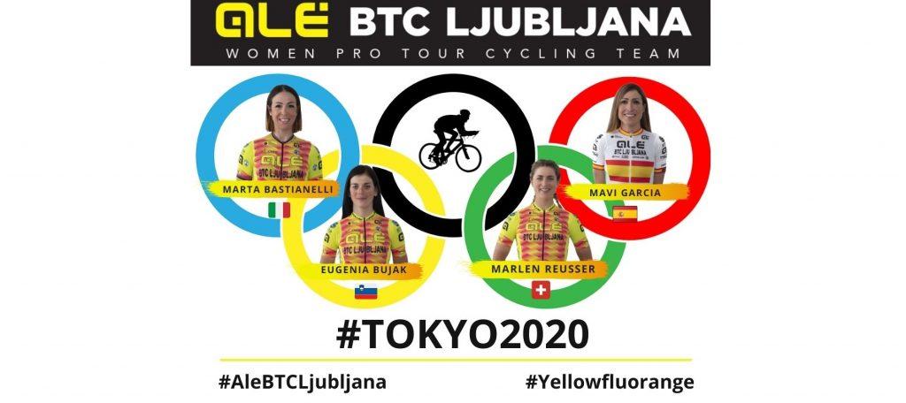 Alé BTC Ljubljana con quattro atlete alle Olimpiadi di Tokyo: Bastianelli, Bujak, Garcia e Reusser