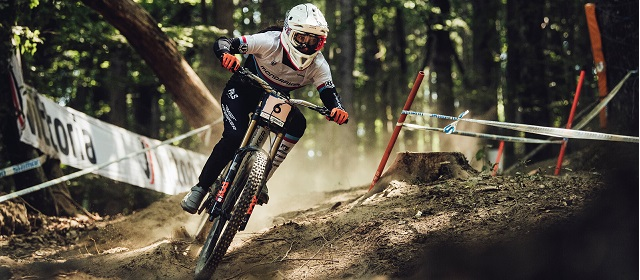 Eleonora Farina performs at UCI DH World Cup in Maribor, Slovenia on August 15th, 2021 // SI202108150474 // Usage for editorial use only //